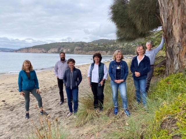 Some of the TCA committee members at Taroona Beach