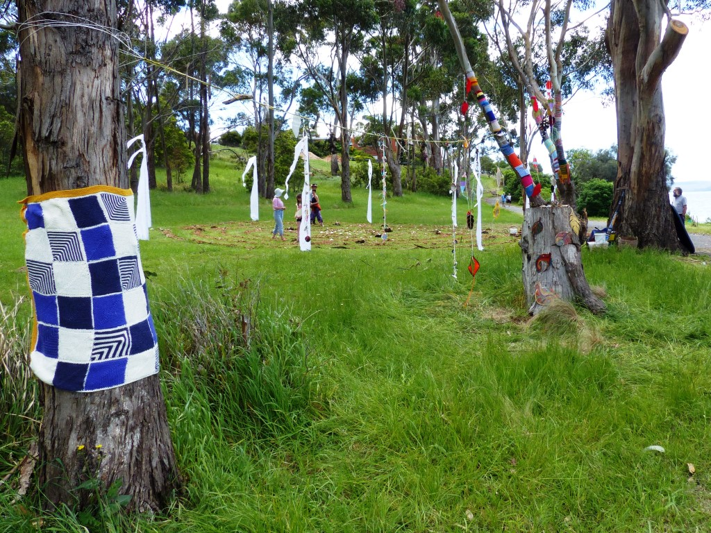 ephemeral labyrinth on 19 Nov 2016-Taroona Art Trail